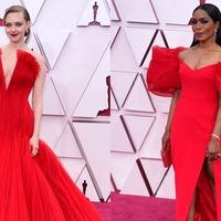 Old Hollywood glamour rules the Oscars red carpet