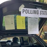 Pop-up polling station set up in car boot after keyholder oversleeps