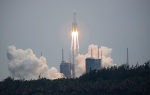 'Vast majority' of space station rocket will burn up on re-entry, says China