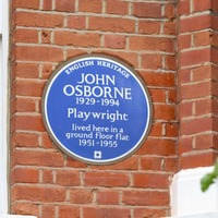 Playwright John Osborne celebrated with English Heritage blue plaque