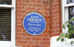 Playwright John Osborne celebrated with English Heritage blue plaque