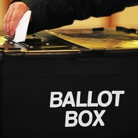 Election staff do the Macarena to 'limber up' ahead of vote counting in Norfolk