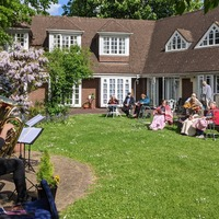 Royal Albert Hall musicians perform singalong concert for care home residents