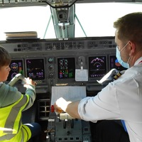 Airport birthday treat for five-year-old who is airline's biggest fan