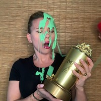 Scarlett Johansson gets covered in slime by husband Colin Jost during MTV awards