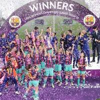 Jubilant Barcelona crash coach's press conference after Champions League win