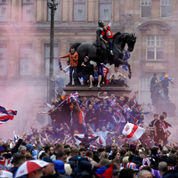 Scottish police probe Rangers players using 'sectarian language' in title celebrations