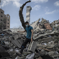 Palestinians go on strike as Israel and Hamas trade fire
