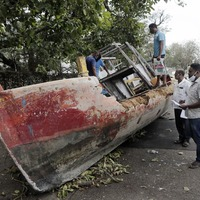 Hopes fade for 26 missing after barge sinks in India storm