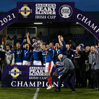 'Outstanding' Linfield target league title after Irish Cup final victory over Larne