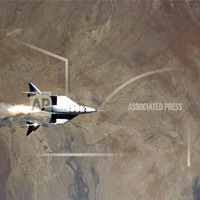 Virgin Galactic sends manned shuttle to fringe of space