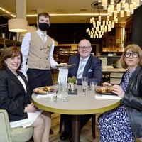 Dodds has 'Grand' reopening breakfast amid speculation her job's now up
