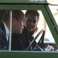 William and Kate ride in Duke of Edinburgh's Land Rover for drive-in cinema date