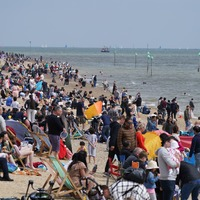 In pictures: Beachgoers soak up the sunshine