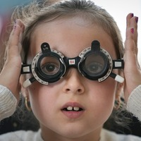 Children in remote Romanian region get eye tests for the first time
