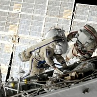 Russians end seven-hour spacewalk at International Space Station