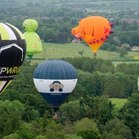 In Pictures: Balloons take to skies in colourful start to Midlands Air Festival