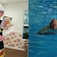 Pensioner raises money for NHS in charity swim on 100th birthday