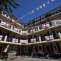 Residents cover estate in England flags ahead of Euros kick-off