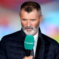 Ian Wright pokes fun at fellow analyst Roy Keane for having 'armband' on jumper
