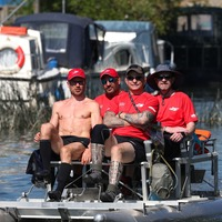 Adventurers bid to reclaim record by navigating Thames in pedalo
