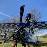 Ninety-year-old wing-walker takes to the sky
