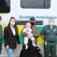 Boy born weighing less than a bag of sugar meets paramedics who saved his life