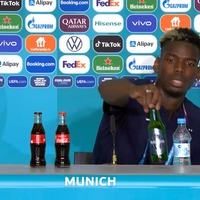 Pogba follows in Ronaldo's footsteps with press conference drink removal