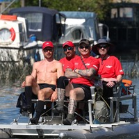 Ex-GB athlete diagnosed with MND drives team to Thames pedalo record