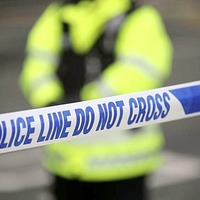 Man held after car crashes into police station gates and rammed patrol vehicle