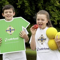Football used as tool to teach children importance of healthy eating habits and being active