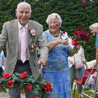 Couple in their 90s renew wedding blessings to celebrate 71st anniversary