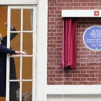 Joanna Lumley unveils plaque to fashion designer Jean Muir