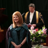 Screenwriter advises students to take risks as she accepts honorary doctorate