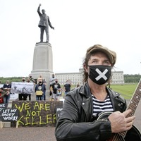 Musicians call for financial support package during protest at Stormont