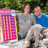 Elephants prove extra lucky as cancer patient wins £100,000 on scratchcard