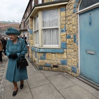 Queen has a look inside the Rovers Return on visit to Coronation Street