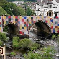 Giant patchwork art installation unveiled on bridge