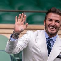 David Beckham at centre court on day 11 of Wimbledon