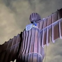 Euro 2020: Angel of the North stunt thwarted by police