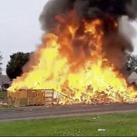 Controversial Limavady bonfire set alight in early hours incident