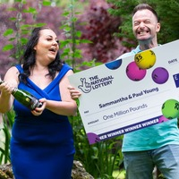 'Football widow' wins £1m with lottery ticket bought out of boredom