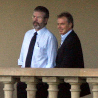 Gerry Adams told Tony Blair on his first day in office: I'm committed to peace