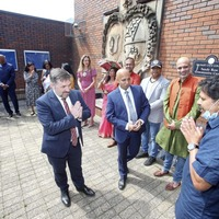 Swann attends community event to praise north for sending life-saving oxygen equipment to Covid-hit India