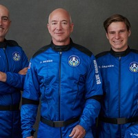 Amazon founder Jeff Bezos and Blue Origin crew reach space and return safely