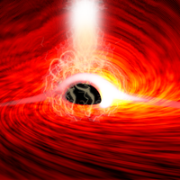 Light behind black hole seen by scientists for the first time