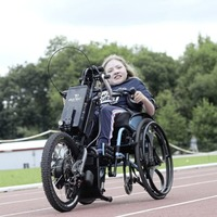 Zoe Rainey (12) smashes personal best to complete charity hand cycle challenge