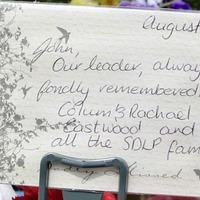 Family and friends mark one year since the death of John Hume