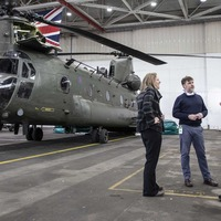 RAF dog handler reunited with Chinook crew that saved his life