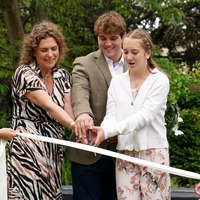 Captain Sir Tom Moore's family open hospice garden funded by his charity